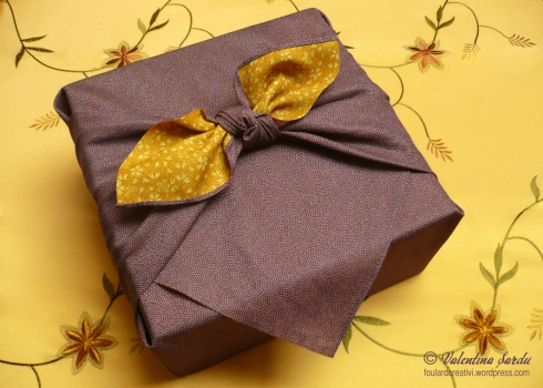 furoshiki double face viola-giallo